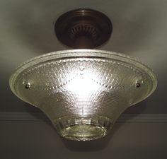 358b Vintage 10/'s 20/'s Antique Ceiling Light Fixture Poly-chrome sconce ?