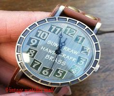 Features handmade leather strap personality by Vintagewatchesmall, $15.99