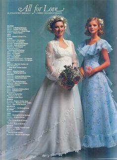 All for Love Advertising spread, Brides Magazine Feb/Mar 1980 Vintage Weddings, Wedding Vintage, Classic Fashion, Retro Fashion, Wedding Attire, Wedding Gowns, 1980s Wedding Dress, Vintage Clothing, Vintage Outfits