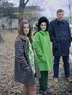 Priscilla Presley With siblings Michelle, and Don in Graceland's backyard