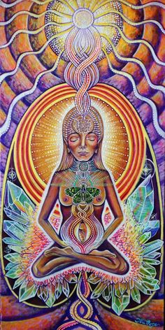 "Goddess of the Sacred Feminine. Hand painted by: Tori Bird Pope ""I began this piece of my heART at the beginning of my pregnancy, and just NOW finally feeling that she is complete."""