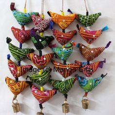 Indian Traditional 5 Birds Door Hanging Multi-Color String Decoration Ornaments #Handmade #Birds