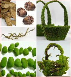 Baskets and acorns