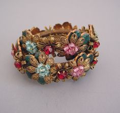 Another gorgeous vintage Miriam Haskell bracelet. I am smitten.