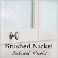 Our favorite high-quality brushed nickel cabinet knobs. Kitchen Cabinets In Bathroom, Cabinet Knobs, Brushed Nickel, Simple, Cabinet Handles