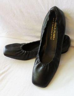 DONALD J PLINER Hard Sole Supple Black Leather ARLIE Ballet Flats Slippers 9M 9 #DonaldJPliner #BalletFlats