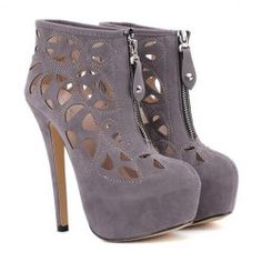 Fashion Openwork and Rivets Design Women's Short Boots Online Shopping Shoes, Cheap Shoes Online, Boots Online, Short Heel Boots, Heeled Boots, Ankle Boots, Crazy Shoes, Me Too Shoes, Cheap Cute Shoes