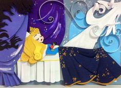Disney Aurora Sleeping Beauty Just in Sleep Fine Art by nathsketch