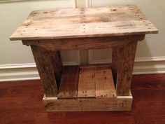 Rustic End Table With Shelf - Side Table, Foyer Table, Night Stand