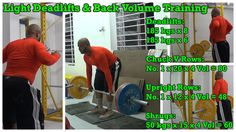Light Deadlifts & Back Volume Training: https://youtu.be/PW-POAel1_s