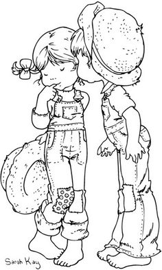 Free printable difficult grown-up coloring pages Love, Creative leisure activities, Beautiful drawings Valentine Sarah Kay, Drawing Love Valentine Sarah Kay 9 Sara Kay, Holly Hobbie, Coloring Book Pages, Coloring Pages For Kids, Free Coloring, Digital Stamps, Embroidery Patterns, Illustration, Drawings