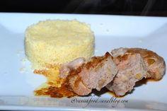 filet mignon-porc-miel-soja-marinade Filets, French Toast, Pork, Cheese, Breakfast, Voici, Honey, Filet Mignon, Marinated Pork