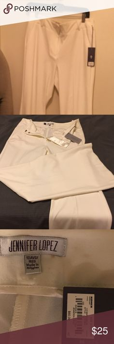 Jlo white dress pants
