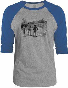 Big Texas Men in a Field 3/4-Sleeve Raglan Baseball T-Shirt