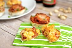 Easy 2/3 Ingredient #Superbowl #GameDay Appetizers: Lasagna or #Bacon Mac and Cheese Cups  from @jeanabeena