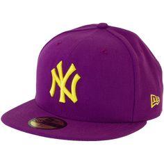 7d83e0848a2 New Era Seasonal Contrast Cap MLB NY Yankees grape yellow
