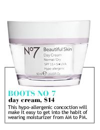 6 Spring Beauty Steals ~ Boots No°7 Day. Cream