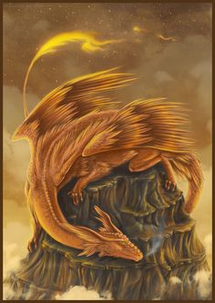 ...the dragon's scales were as red as fire, and when you touched them they would glow...