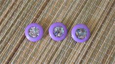3 Vintage Mother of Pearl Lavender Buttons #vintagebuttons #buttonitupvintage