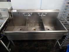 PCI Auctions: Restaurant Equipment Auctions, Commercial Auctions, Industrial Auctions and Business Liquidations Buy and Sell Restaurant Kitchen Design, Restaurant Equipment, Grocery Store, Faucet, Restaurants, Sink, Commercial, Auction, Buy And Sell