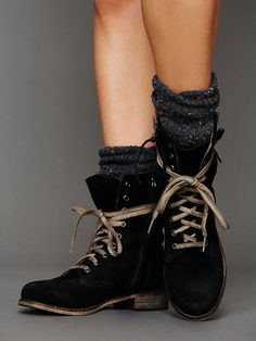 Sixtyseven Greyson Lace Up Boot in Black | Lyst