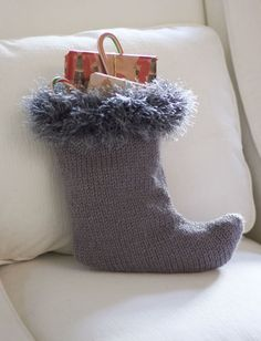 Cutlery Holder Stocking Yarn Free Knitting Patterns ...