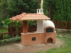 Elegant outside oven Wood Oven, Wood Fired Oven, Backyard Projects, Outdoor Projects, Outdoor Decor, Pizza Oven Outdoor, Outdoor Cooking, Brick Bbq, Bbq Area