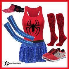 Spiderman Inspired Running Costume | Halloween | runDisney | Disney | Sparkle Athletic | Athletic Costume | Runner | DIY | Running | Race Costume | Super Hero | Marvel | Comic