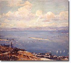 """""""Yacht Race, San Diego Bay""""  Alson S. Clark"""