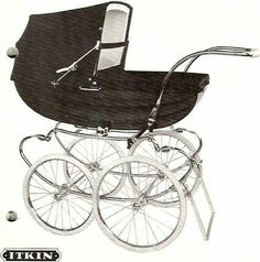 Vintage Pram, Prams And Pushchairs, Baby Carriage, Vintage Coach, Kids And Parenting, Baby Strollers, Retro, Children, Blythe Dolls