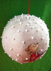 Christmas ball with embroidery