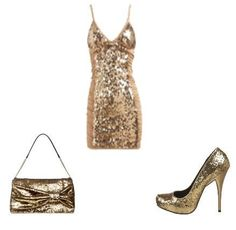 Gold sequin outfit