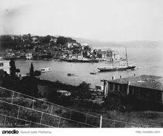 Osmanlı Döneminden Tarabya Koyu, fotoğraf 1880 - 1893 yılları arasında çekilmiş