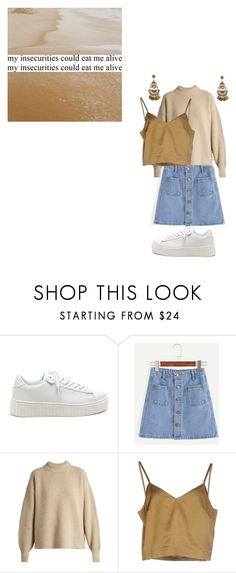"""""""insecurities"""" by goodhorriblemorning ❤ liked on Polyvore featuring The Row, Erika Cavallini Semi-Couture, Summer, Spring, skirt, neutrals and sneakers"""