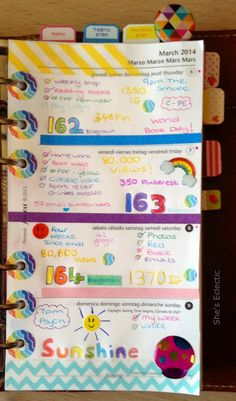She's Eclectic: My week in my Filofax #10 - close up