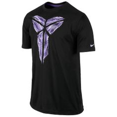 Nike Kobe Sheath Warp T-Shirt - Men's - Basketball - Clothing - Black/Court Purple