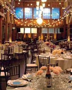 The Reception was held in a century-old factory and decorated like a 1950's supper club -- definitely a favorite!