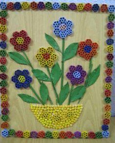 makarnadan yapilan dekoratif cicekler (8) - Hobi Fikirleri Yaratıcı El İşi Örnekleri