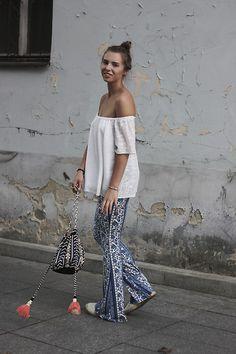Ola Szymanska - H&M Pants, Reserved Bag - Porcelain pants