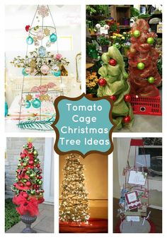 Tomato Cage Christmas Tree Ideas