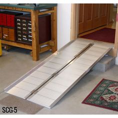 Handicap Ramp Providing Access To A Home From The Garage