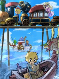 Of course! The Windwaker, Phantom Hourglass, and Spirit Tracks all happened at the same time. They just never saw each other! :)