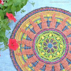 Sunny Mandala: new life of an old overlay crochet pattern | LillaBjörn's Crochet World | Bloglovin'
