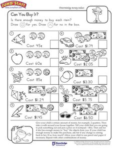 """Can You Buy It?"" – 2nd Grade Math Worksheets #JumpStart"