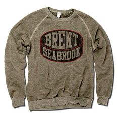 Brent Seabrook Officially Licensed NHLPA Unisex Crew Sweatshirt S-2X Brent Seabrook Black Puck