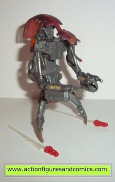 star wars action figures DESTROYER DROID geonosis battle 2002 complete attack of the clones saga aotc