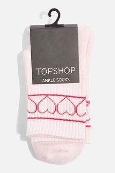 Topshop Heart Sporty Tube Socks