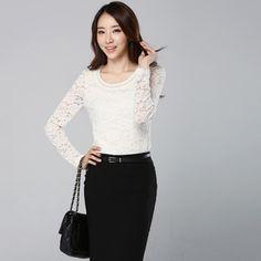 2013 Autumn Fashion Slim Lace Shirt