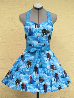 Inspired Disney Frozen Characters Apron  Full of by AquamarCouture