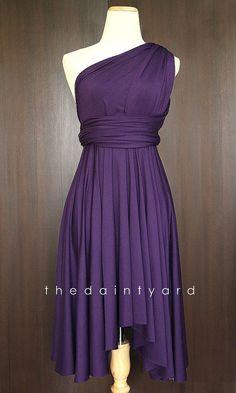 Grape Bridesmaid Convertible Dress Infinity Dress Multiway Dress Wrap Dress Royal Purple Dark Purple Deep Purple  Keep in mind for my bridesmaids